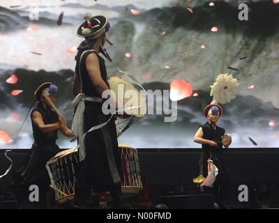 London, UK. 8th July, 2017.  London Korean Festival and London Olympia. Credit: Matthew Ashmore / StockimoNews/Alamy - Stock Photo