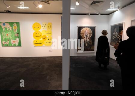 London, UK. 17th January, 2018. London Art Fair. 2018 marks the 30th edition of the fair. Credit: Rachel Megawhat/StockimoNews/Alamy - Stock Photo