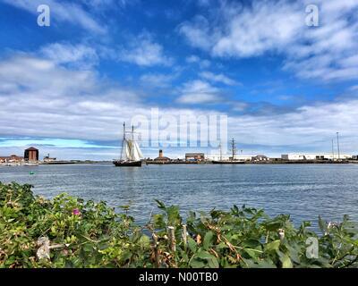Sunderland, UK. 12th July, 2018. Sunderland Tall Ship Races 2018 Credit: ekono/StockimoNews/Alamy Live News - Stock Photo
