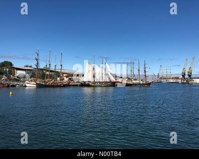 Sunderland, UK. 12th July, 2018. Sunderland Tall Ships Races Credit: ekono/StockimoNews/Alamy Live News - Stock Photo