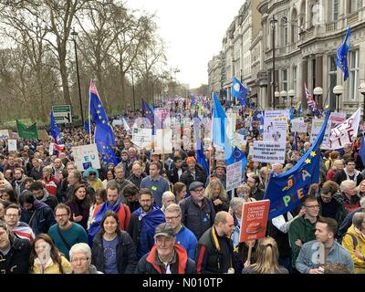 People's Vote March, London, UK, 23 March 2019 - Stock Photo