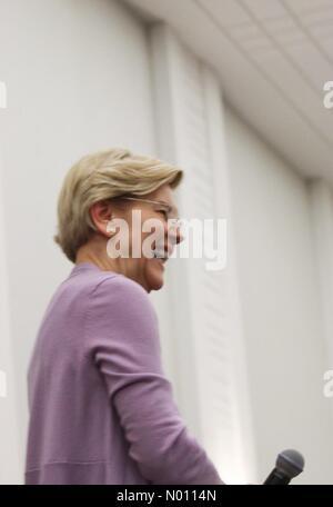 Elizabeth Warren, United States Senator from Massachusetts and Democratic candidate for United States President, speaks in Hanover, New Hampshire, United States - Stock Photo