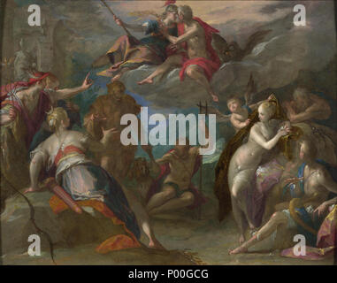 . The Amazement of the Gods (?) . Probably 1590s 255 Hans von Aachen - The Amazement of the Gods (National Gallery, London) - Stock Photo