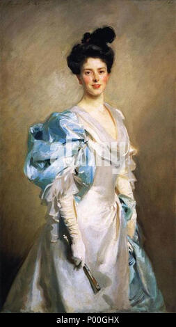 . English: Mary Crowninshield Endicott Chamberlain (Mrs. Joseph Chamberlain) John Singer Sargent -- American painter 1902 National Gallery of Art, Washington D.C. Oil on canvas 150.5 x 83.8 cm (59 1/4 x 33 in.) Gift of the sitter, Mary Endicott Chamberlain Carnegie 1958.2.1 Jpg: National Gallery of Art  . 1902. John Singer Sargent Born: January 12, 1856, Florence Died: April 14, 1925, London, United Kingdom 69 Mary Crowninshield Endicott Chamberlain - Stock Photo