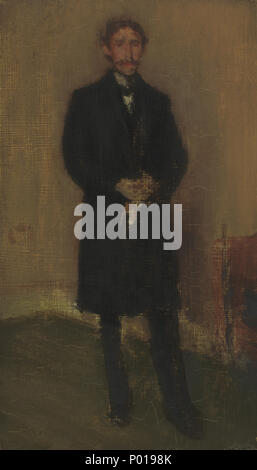 James McNeill Whistler (American, 1834 - 1903 ), Alexander Arnold Hannay, c. 1896, oil on wood, Rosenwald Collection 1943.11.7 3 Alexander Arnold Hannay A35134 - Stock Photo