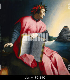 Florentine 16th Century, Allegorical Portrait of Dante, , late 16th century, oil on panel, Samuel H. Kress Collection 3 Allegorical Portrait of Dante E10719 - Stock Photo