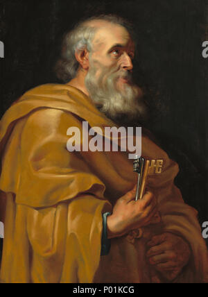 Painting; oil on panel; overall: 92 x 67.5 cm (36 1/4 x 26 9/16 in.); 20 Saint Peter A26043 - Stock Photo