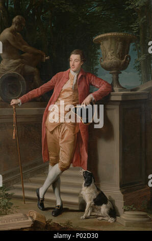 . Portrait of John Talbot, later 1st Earl Talbot . 1773 18 Pompeo Batoni (Italian (Lucchese) - Portrait of John Talbot, later 1st Earl Talbot - Google Art Project - Stock Photo