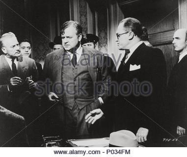 Original Film Title: COMPULSION.  English Title: COMPULSION.  Film Director: RICHARD FLEISCHER.  Year: 1959.  Stars: ORSON WELLES; E. G. MARSHALL. Credit: 20TH CENTURY FOX / Album - Stock Photo