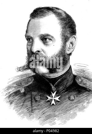 Alexander II., czar of Russia. Alexander II, Aleksandr II Nikolayevich, 1818 - 1881, was the Emperor of Russia from the 2nd March 1855 until his assassination on 13 March 1881, digital improved reproduction of an original print from the year 1881 - Stock Photo