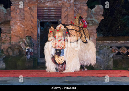 Sunda Upasunda, Barong and Kris dance, Arma theatre, Ubud, Bali, Indonesia - Stock Photo