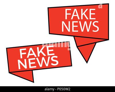Fake news, callout isolated on white background. False journalism. Vector illustration - Stock Photo