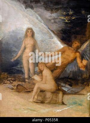 Time, Truth and History, Francisco Goya, circa 1800, Museum of Fine Arts, Boston, Mass, USA, North America - Stock Photo