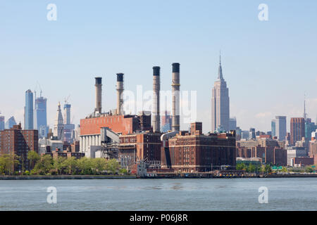 The Consolidated Edison Inc. plant on the East River, New York city United States of America - Stock Photo