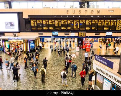 Euston Railway Station, Camden, London, UK, GB. - Stock Photo