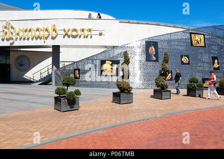 Svetlogorsk, Russia. 08th June, 2018. KALININGRAD REGION, RUSSIA - JUNE 8, 2018: A view of the Yantar [Amber] Hall multipurpose concert complex hosting the 2018 Amberforum, an international economic forum of amber industry held in the town of Svetlogorsk. Vitaly Nevar/TASS Credit: ITAR-TASS News Agency/Alamy Live News - Stock Photo
