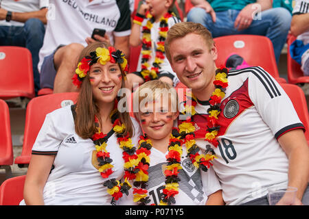 Leverkusen, Germany, 8 June 2018. Germany- Saudi Arabia, Soccer, Leverkusen, June 08, 2018 German fans colourful GERMANY - SAUDI ARABIA 2-1 friendly match,  German Football Nationalteam, DFB , Season 2017/2018,  June 08, 2018 in Leverkusen, Germany. © Peter Schatz / Alamy Live News - Stock Photo