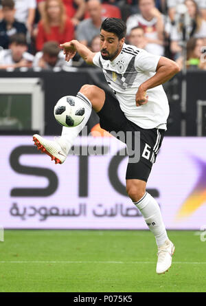 08 June 2018, Germany, Leverkusen: Soccer, international, Germany vs Saudi Arabia at the BayArena. Germany's Sami Khedira. Photo: Ina Fassbender/dpa - Stock Photo