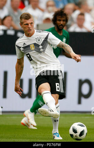 Leverkusen, Germany, 8 June 2018. Football International - Friendly Germany (GER) - Saudi Arabia (SAU ) 2-1 in  the Bay-Arena Stadium in Leverkusen on  08. June 2018  Toni KROOS (GER) Photo : Norbert Schmidt, Duesseldorf Credit: norbert schmidt/Alamy Live News - Stock Photo