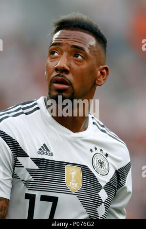 Leverkusen, Germany, 8 June 2018. Football International - Friendly Germany (GER) - Saudi Arabia (SAU ) 2-1 in  the Bay-Arena Stadium in Leverkusen on  08. June 2018  Jerome BOATENG (GER) Photo : Norbert Schmidt, Duesseldorf Credit: norbert schmidt/Alamy Live News - Stock Photo