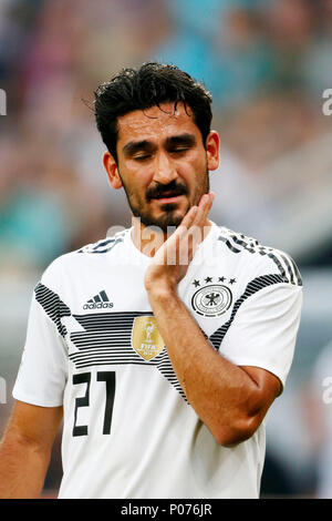 Leverkusen, Germany, 8 June 2018. Football International - Friendly Germany (GER) - Saudi Arabia (SAU ) 2-1 in  the Bay-Arena Stadium in Leverkusen on  08. June 2018  Ilkay GUENDOGAN (GER)  Photo : Norbert Schmidt, Duesseldorf Credit: norbert schmidt/Alamy Live News - Stock Photo