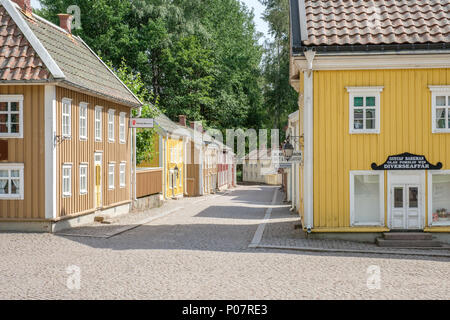 Miniature city in Astrid Lindgrens world. This is a popular theme park in Sweden based on the fairy tales and stories by Astrid Lindgren. - Stock Photo