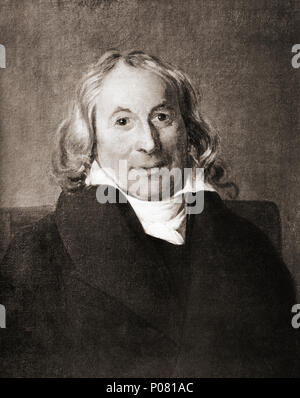 Henri-Benjamin Constant de Rebecque,  1767 – 1830, aka Benjamin Constant.  Swiss-French political activist and writer on politics and religion.  After a contemporary print. - Stock Photo