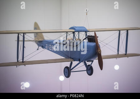 London, UK - January 17, 2018 - Model aircraft on display at Science Museum - Stock Photo
