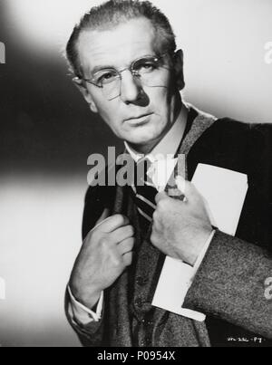 Original Film Title: THE BROWNING VERSION.  English Title: THE BROWNING VERSION.  Film Director: ANTHONY ASQUITH.  Year: 1951.  Stars: MICHAEL REDGRAVE. Credit: GFD/JAVELIN / Album - Stock Photo