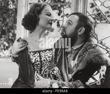 Original Film Title: THE PRIVATE LIFE OF HENRY VIII.  English Title: THE PRIVATE LIFE OF HENRY VIII.  Film Director: ALEXANDER KORDA.  Year: 1933.  Stars: CHARLES LAUGHTON; WENDY BARRIE. Credit: UNITED ARTISTS / Album