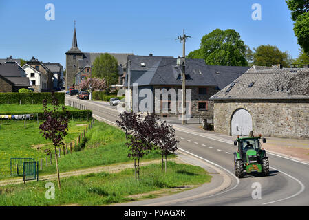 Robertville is a section of the Belgian commune of Waimes. - Stock Photo