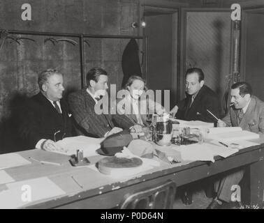 Original Film Title: ANGEL.  English Title: ANGEL.  Film Director: ERNST LUBITSCH.  Year: 1937.  Stars: ERNST LUBITSCH; MARLENE DIETRICH; MELVYN DOUGLAS; HERBERT MARSHALL. Credit: PARAMOUNT PICTURES / Album - Stock Photo