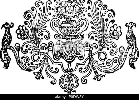 . English: Fleuron from book: A treatise of the most Holy Trinity. 232 A treatise of the most Holy Trinity. Fleuron T051633-2 - Stock Photo