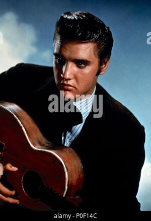 Original Film Title: LOVE ME TENDER.  English Title: LOVE ME TENDER.  Film Director: ROBERT D. WEBB.  Year: 1956.  Stars: ELVIS PRESLEY. Credit: 20TH CENTURY FOX / Album - Stock Photo
