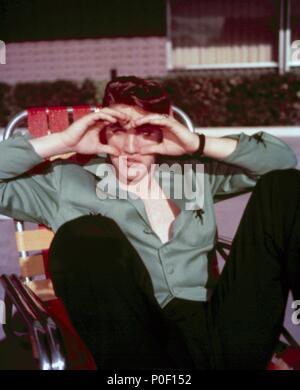 Year: 1956.  Stars: ELVIS PRESLEY. - Stock Photo