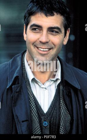 Original Film Title: ONE FINE DAY.  English Title: ONE FINE DAY.  Film Director: MICHAEL HOFFMAN.  Year: 1996.  Stars: GEORGE CLOONEY. Credit: 20TH CENTURY FOX / ARONOWITZ, MILES / Album - Stock Photo