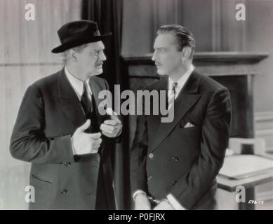 Original Film Title: ARSENE LUPIN.  English Title: ARSENE LUPIN.  Film Director: JACK CONWAY.  Year: 1932.  Stars: JOHN BARRYMORE; LIONEL BARRYMORE. Credit: M.G.M / Album - Stock Photo