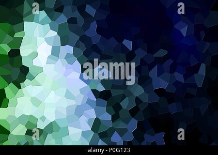 Abstract modern background with  geometric pattern from various  green  and blue polygons and triangles - Stock Photo