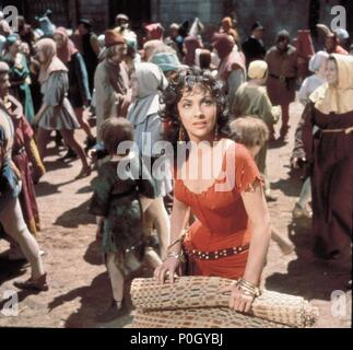 Original Film Title: NOTRE DAME DE PARIS.  English Title: THE HUNCHBACK OF NOTRE DAME.  Film Director: JEAN DELANNOY.  Year: 1956.  Stars: GINA LOLLOBRIGIDA. Credit: PARIS-FILM PRODUCTIONS/ALLIED ARTISTS / Album - Stock Photo