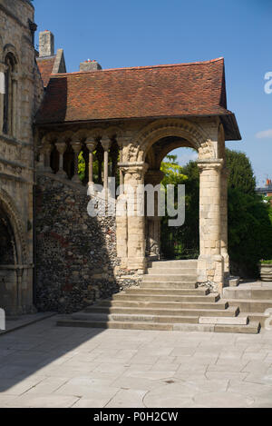 Canterbury cathedral exterior steps - Stock Photo