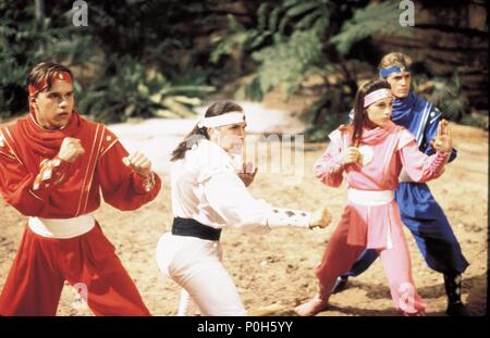 Original Film Title: MIGHTY MORPHIN POWER RANGERS: THE MOVIE.  English Title: MIGHTY MORPHIN POWER RANGERS: THE MOVIE.  Film Director: BRYAN SPICER; STEVE WANG.  Year: 1995. Credit: 20TH CENTURY FOX / VIGNES, MARC / Album - Stock Photo