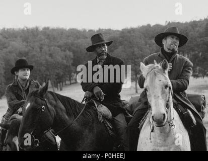 Original Film Title: UNFORGIVEN.  English Title: UNFORGIVEN.  Film Director: CLINT EASTWOOD.  Year: 1992.  Stars: CLINT EASTWOOD; MORGAN FREEMAN. Credit: WARNER BROTHERS / Album - Stock Photo