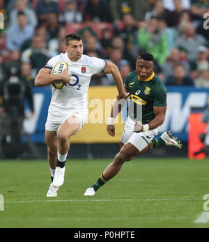 Emirates Airline Park, Johannesburg, South Africa, 9th June 2018,  Jonny May of England during the 2018 Castle Lager Incoming Series 1st Test match between South Africa and England Credit: Action Plus Sports Images/Alamy Live News - Stock Photo