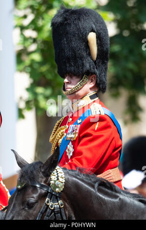 London, UK. 9th June 2018. Trooping The Colour. Prince Andrew Credit: Raymond Tang/Alamy Live News - Stock Photo