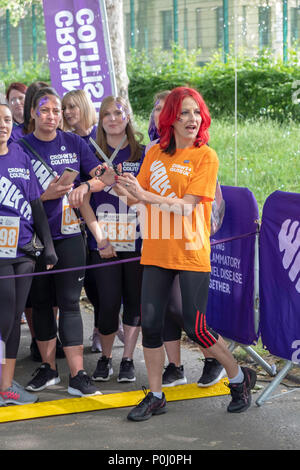 London, UK. 9th June 2018. Carrie Grant at the Crohn's and Colitus UK 'Walk it' 2018 Credit: Antonio Patrizi/Alamy Live News - Stock Photo