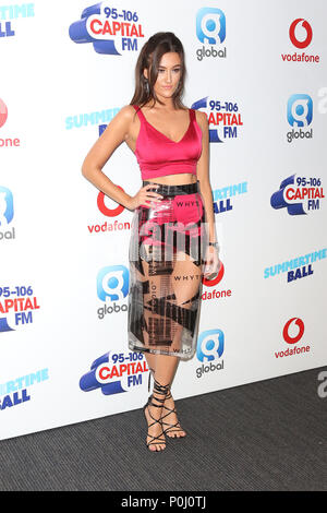London, UK. 9th June 2018. Dakota, Capital's Summertime Ball with Vodafone, Wembley Stadium, London, UK, 09 June 2018, Photo by Richard Goldschmidt Credit: Rich Gold/Alamy Live News - Stock Photo