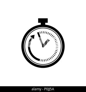 Time limit icon in flat style. Speed symbol - Stock Photo