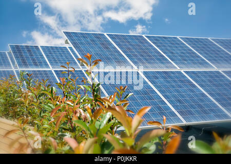 Photovoltaic Solar Panels On The Roof - Stock Photo