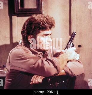 Original Film Title: BONANZA-TV.  English Title: BONANZA.  Film Director: ROBERT ALTMAN; LEWIS ALLEN.  Year: 1959.  Stars: MICHAEL LANDON. Credit: NATIONAL BROADCASTING CO. / Album - Stock Photo
