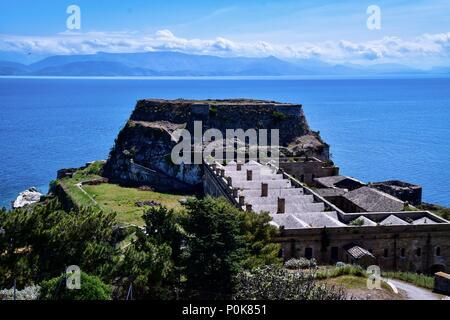 Venetian Fortress Corfu Old Town - Stock Photo